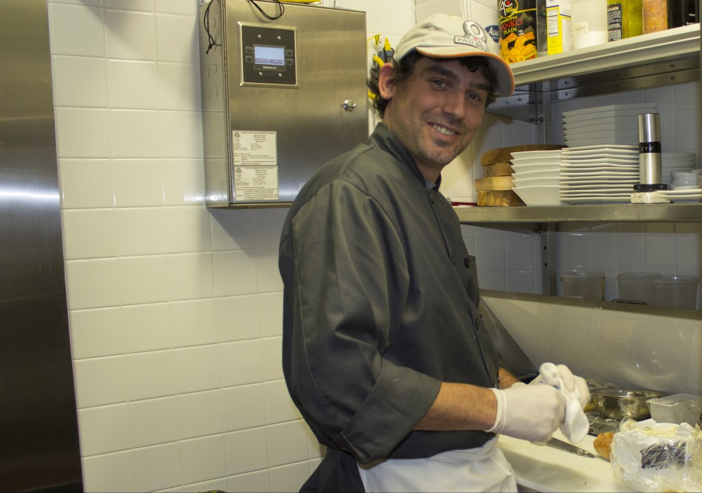 Chef Bill Bentz in the kitchen at Top of the Park